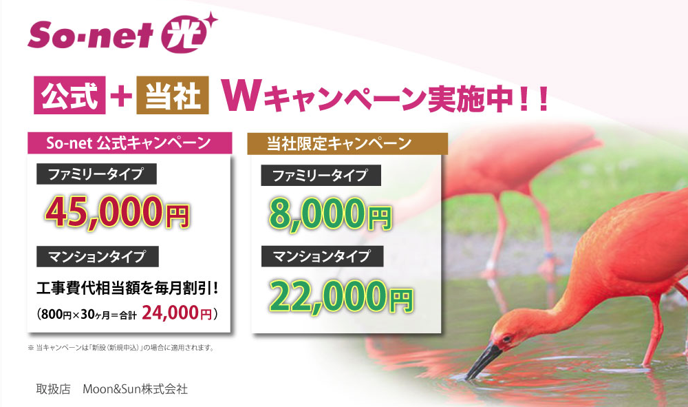 【45,000円+αキャッシュバック】auユーザーならスマホ代も割引「So-net光」